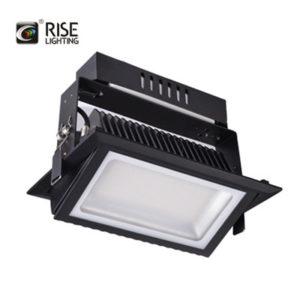 Rectangular led shop light black