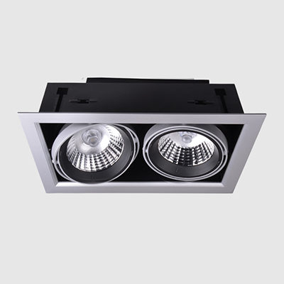 2x15W COB LED grille downlight double head